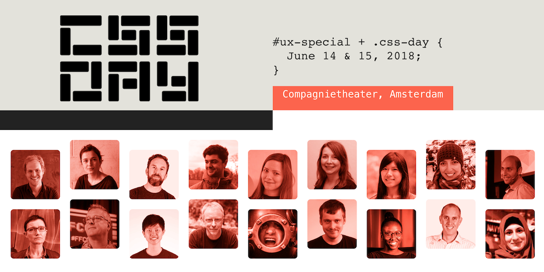 CSS Day 2018, 14th and 15th of June, Amsterdam